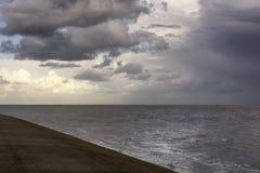 Opinión sobre el mar de Wadden, Texel, los Países Bajos cerca de Oudeschild fotos de archivo