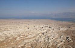Opinión sobre el mar muerto Imagen de archivo libre de regalías