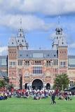 Opinión sobre el museo renovado del estado, Amsterdam, Países Bajos Foto de archivo