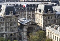 Opinión sobre el palacio de la justicia foto de archivo libre de regalías