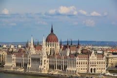 Opinión sobre el Parlament húngaro Fotos de archivo libres de regalías