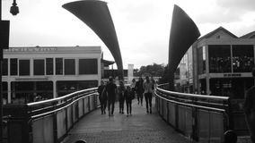 Opinión sobre el puente Bristol de Pero almacen de video