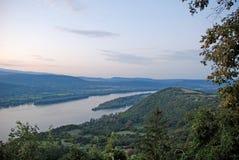 Opinión sobre el río Danubio Fotografía de archivo libre de regalías