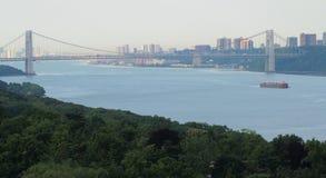 Opinión sobre el río de Hudson foto de archivo