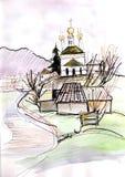 Opinión sobre el templo Foto de archivo