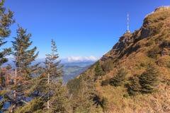 Opinión sobre el top de Mt. Rigi Foto de archivo libre de regalías