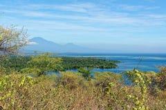 Opinión sobre el volcán de Ijen de Bali Foto de archivo libre de regalías