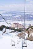 Opinión sobre Erzurum del funicular en Palandoken Fotografía de archivo libre de regalías