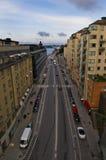 Opinión sobre Gamla Stan de Katarinahissen Estocolmo, Suecia foto de archivo libre de regalías