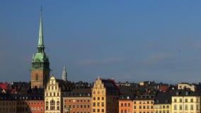 Opinión sobre Gamla Stan en Estocolmo Ciudad vieja suecia almacen de video