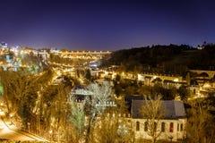 Opinión sobre Grund y abadía en Luxemburgo Imagen de archivo libre de regalías