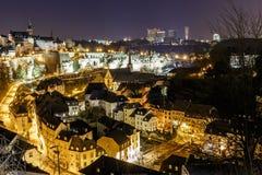 Opinión sobre Grund y abadía en Luxemburgo Foto de archivo libre de regalías