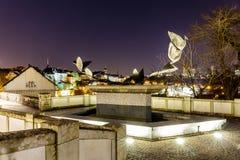 Opinión sobre Grund y abadía en Luxemburgo Imagenes de archivo