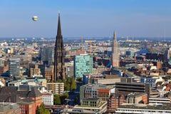 Opinión sobre Hamburgo imagen de archivo