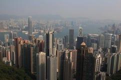 Opinión sobre Hong Kong Fotografía de archivo