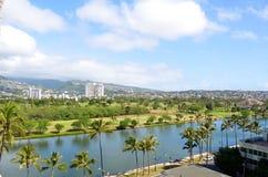 Opinión sobre Honolulu Fotografía de archivo libre de regalías