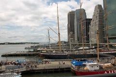 Opinión sobre Hudson New York City Imagen de archivo libre de regalías