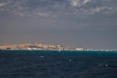 Opinión sobre Hurghada fotografía de archivo libre de regalías