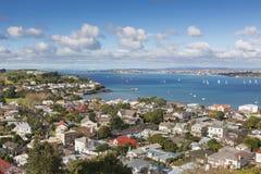 Opinión sobre la bahía de Auckland fotografía de archivo libre de regalías