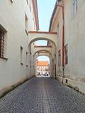 Opinión sobre la calle en Ceska Lipa imagenes de archivo
