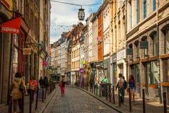 Opinión sobre la calle en Lille céntrica, Francia Fotos de archivo