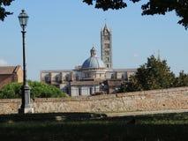Opinión sobre la catedral - Siena Foto de archivo