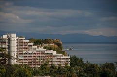 Opinión sobre la ciudad de la playa de Partenit fotografía de archivo libre de regalías
