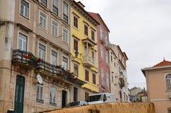 Opinión sobre la ciudad vieja, Coímbra, Portugal del paisaje urbano foto de archivo