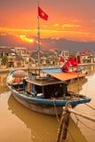 Opinión sobre la ciudad vieja de Hoi. Vietnam imagen de archivo