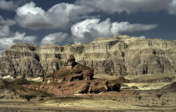 Opinión sobre la colina espiral, parque de Timna, Israel Foto de archivo libre de regalías