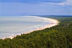 Opinión sobre la costa. Fotografía de archivo