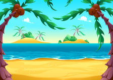 Opinión sobre la costa stock de ilustración