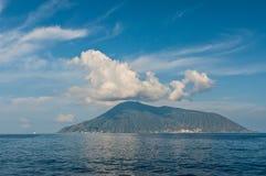 Opinión sobre la isla de la salina Imagen de archivo