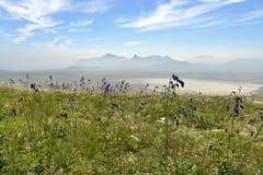 Opinión sobre la montaña de Karadag Foto de archivo libre de regalías