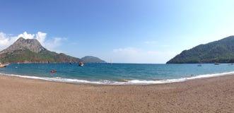 Opinión sobre la playa Antalya fotos de archivo