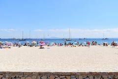 Opinión sobre la playa en las islas de Mallorca Imagen de archivo