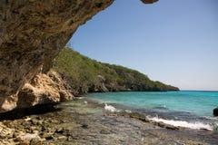 opinión sobre la playa y el mar del Caribe Imagen de archivo libre de regalías