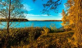 Opinión sobre la reserva de agua del río Imagen de archivo