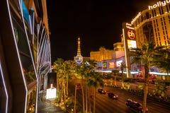 Opinión sobre la tira de Las Vegas en la noche del puente imágenes de archivo libres de regalías