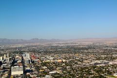 Opinión sobre Las Vegas de la torre de la estratosfera Horizonte de Las Vegas foto de archivo libre de regalías