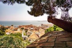 Opinión sobre Lisboa fotografía de archivo libre de regalías