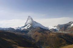 Opinión sobre Matterhorn, Suiza Foto de archivo libre de regalías