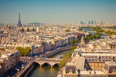 Opinión sobre París fotografía de archivo libre de regalías