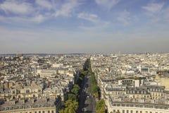 Opinión sobre París Foto de archivo libre de regalías