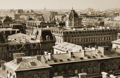 Opinión sobre París central foto de archivo