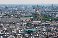 Opinión sobre París de la torre Eiffel Imagen de archivo