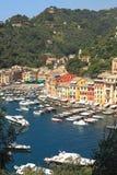 Opinión sobre Portofino, Italia. Imagen de archivo