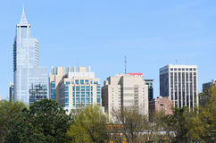 Opinión sobre Raleigh céntrico, NC Fotografía de archivo