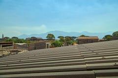 Opinión sobre ruinas en Pompeya Foto de archivo libre de regalías