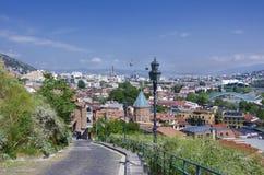 Opinión sobre Tbilisi Foto de archivo
